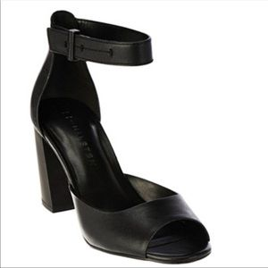 """1bd2160ac H by Halston """"As is"""" Block Heel Carina Sandals"""